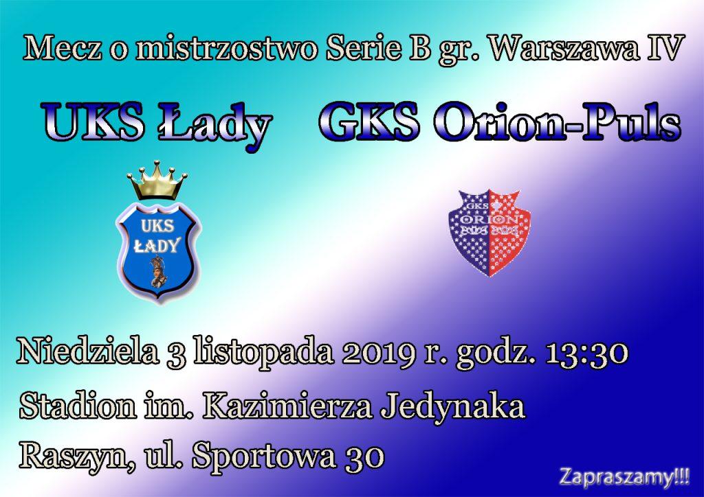 UKS Łady - GKS Orion-Puls Cegłów